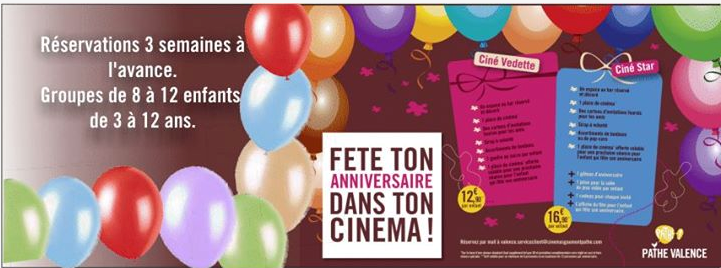 anniversaire cinema pathe valence